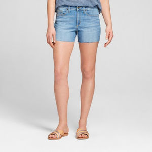 Universal Thread High Rise Midi Shorts Frayed Hem